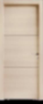 Porta interna in legno, linea tamburata liscia in diverse essenze e finiture.