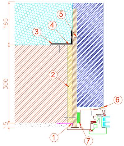 Posa serramento in legno/alluminio a raso muro con monoblocco in EPS.