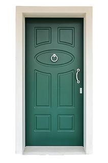 Portoncino d'ingresso in legno con pantografature a disegno nella parte interna ed ed esterna. Portoncino realizzato a disegno su misura