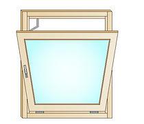 Disegno finestra in lgno con apertura a vasistas