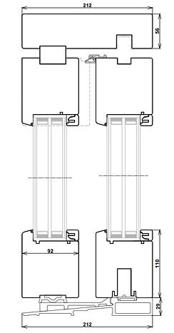 disegno sezione verticale alzante scorrevole standard Legno92.png