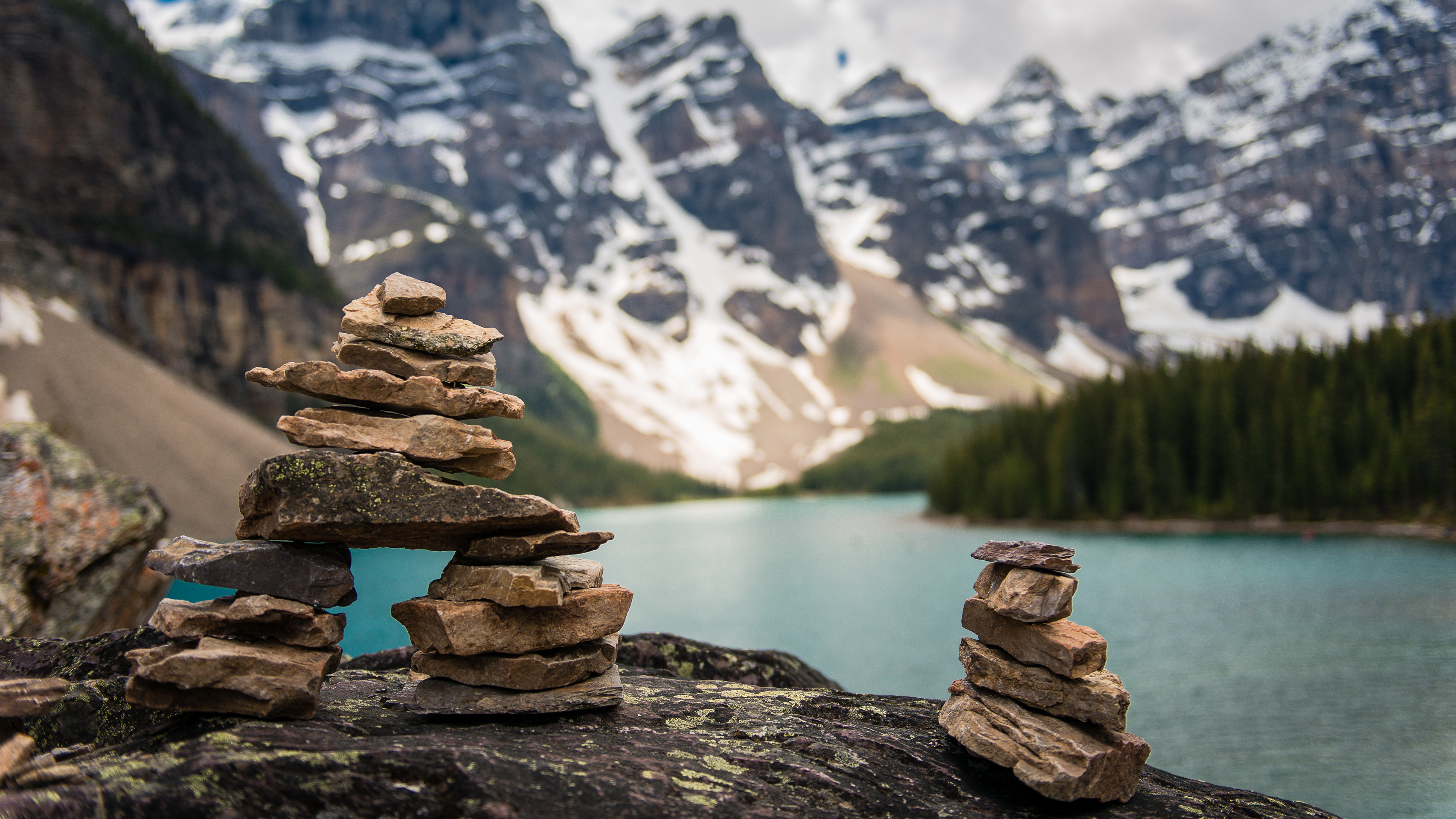Cairns at Moraine Lake Overlook