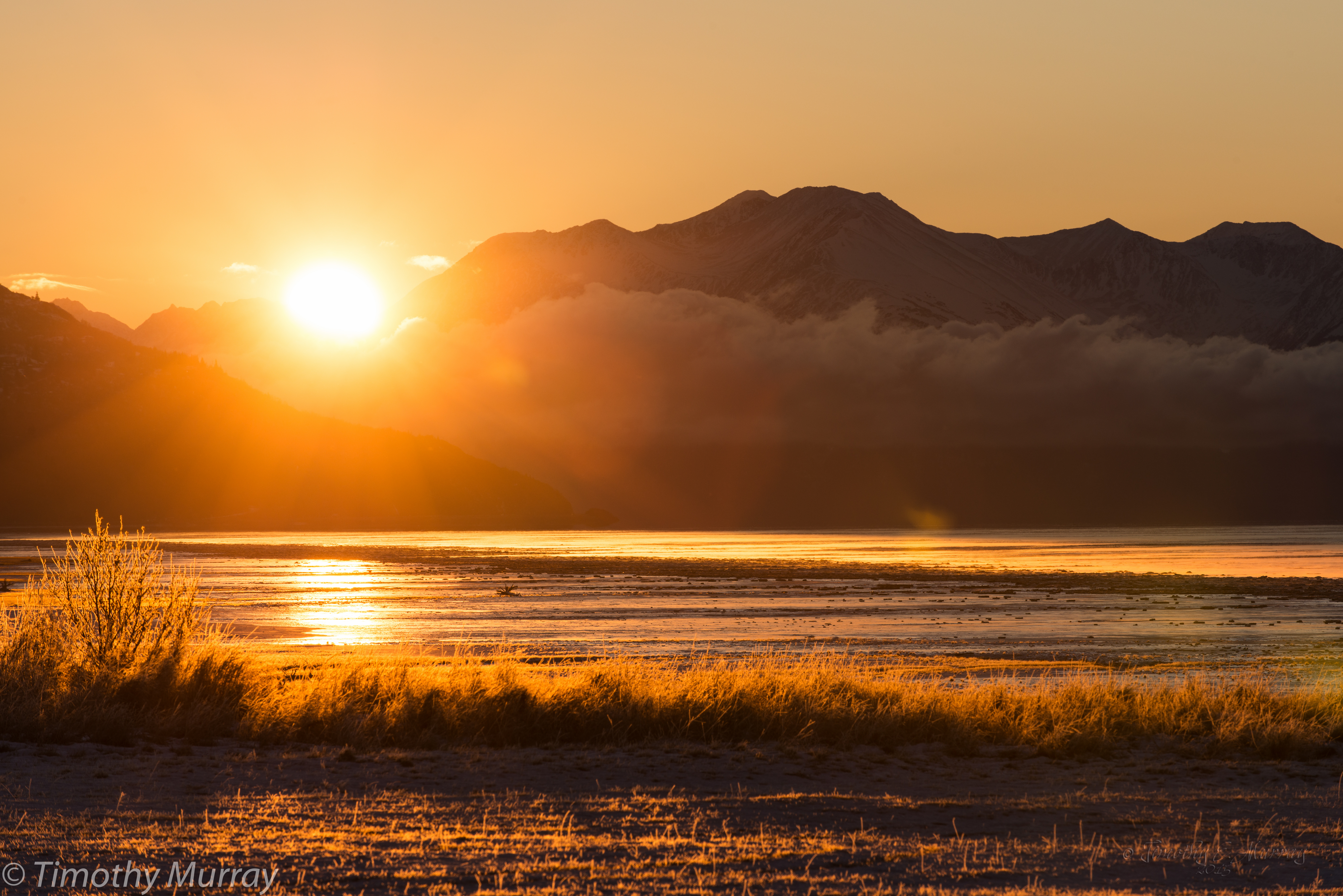 Turnagain Sunrise on Hoarfrost
