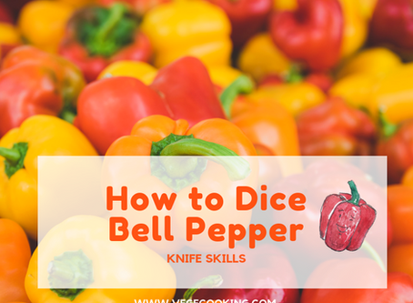 How to Dice Bell Peppers