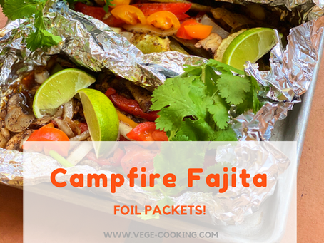 Campfire Fajita Foil Packets (and tips to eat healthy while camping)