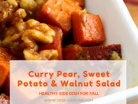 Curry Pear, Sweet Potato, Walnut Salad