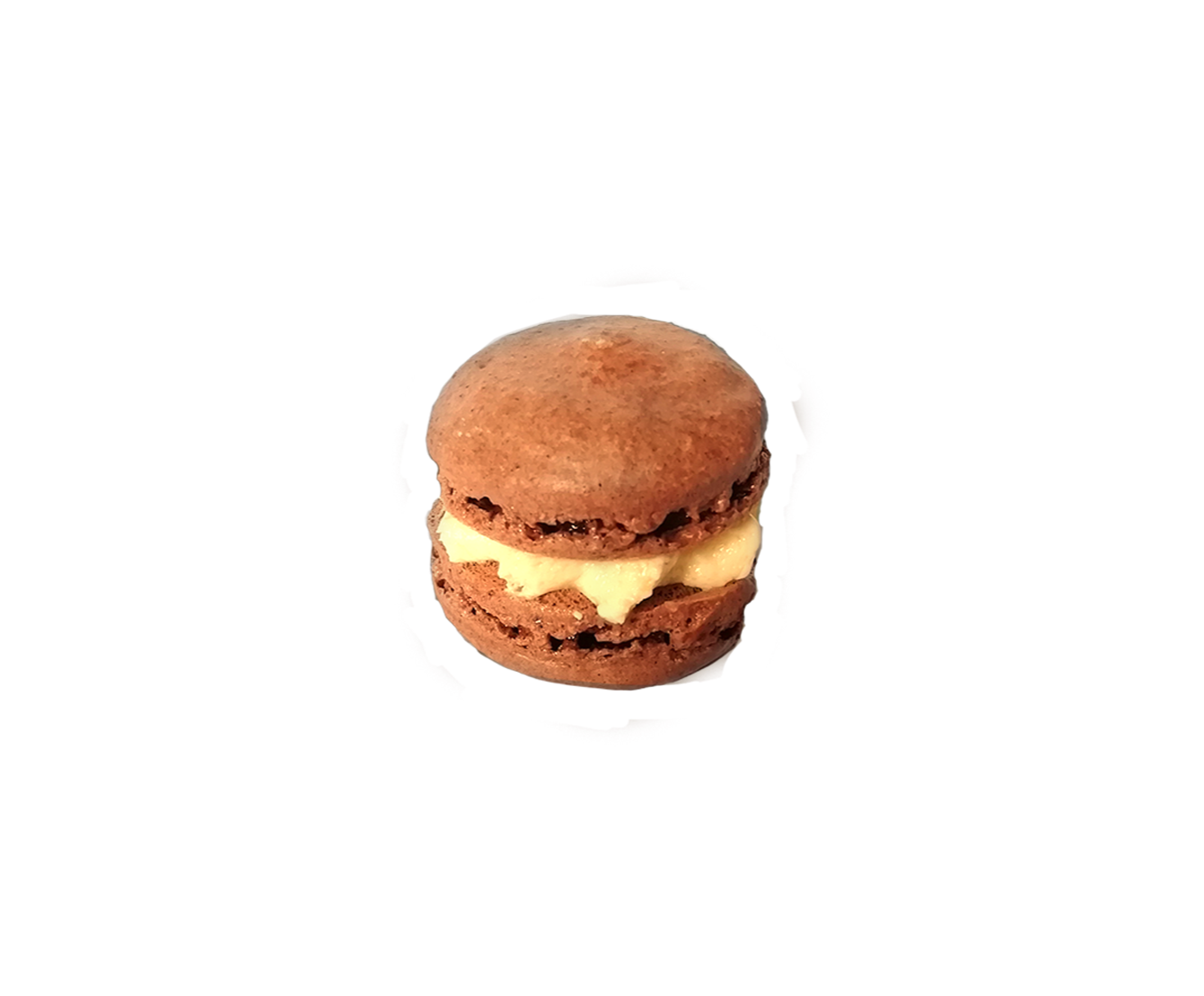 Chocolate Macaron with Vanilla Cream