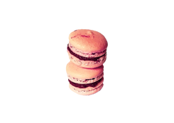 Pink Macaron with Raspberry Cream
