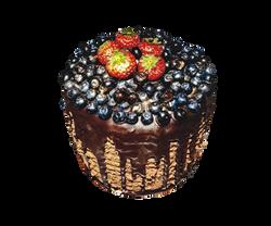 Light and sweet birthday cake