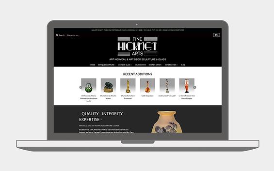 Hickmet Fine Arts Website - Emma Rampton Portfolio