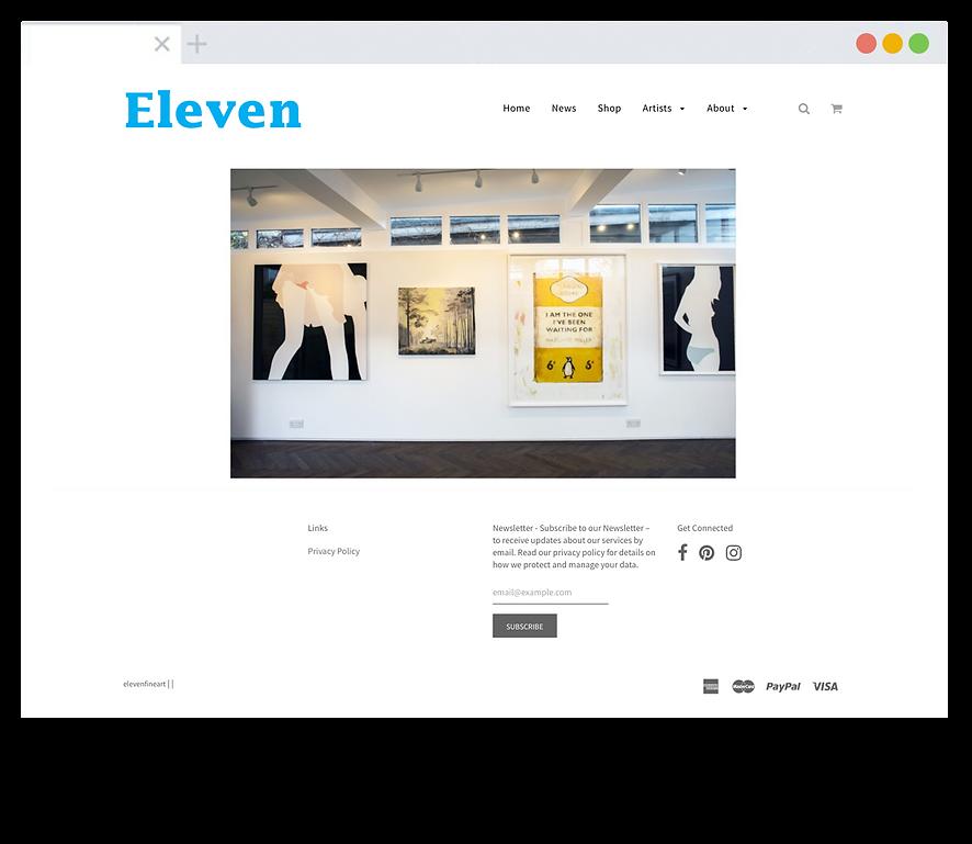 Eleven website - Emma Rampton Portfolio