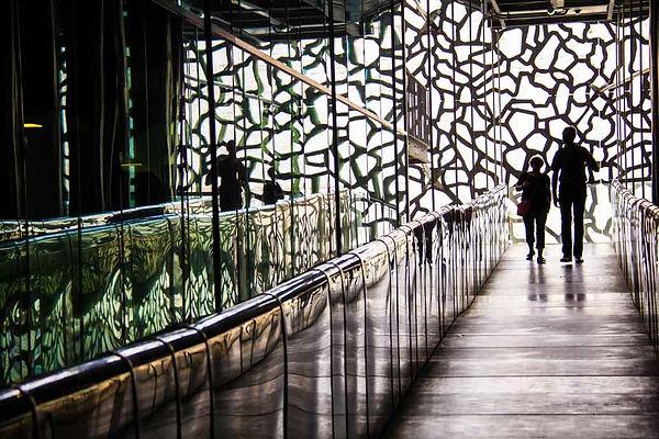 Balade dans les couloirs du Mucem à Marseille