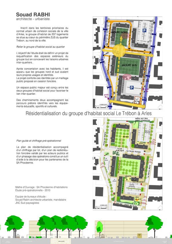 Résidentialisation d'habitats en qualité d'urbaniste à Arles - Souad Rabhi