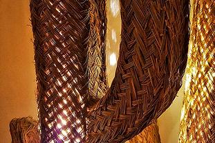 Lampe cactus en paille - Livaison gratuite