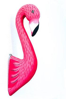 Tête d'animal mural - Flamant rose petite taille - Marseille - Vente en ligne