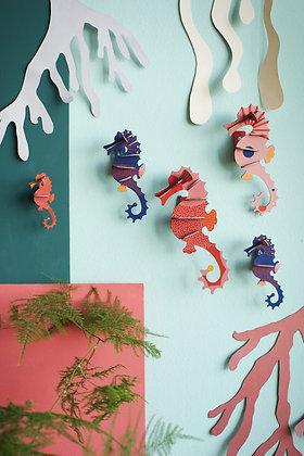 Puzzle 3D hippocampes Studio Roof - Deco murale  tropicale - Marseille