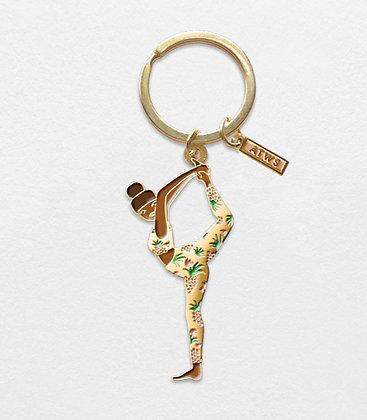 Porte-clef Femme Yoga - Cadeau pour femme Marseille