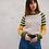 Pull original pour femme beige, vert et jaune - Marseille