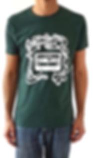 T-shirt vert - Cassette - Idee cadeau Marseille pour mélomane insatiable