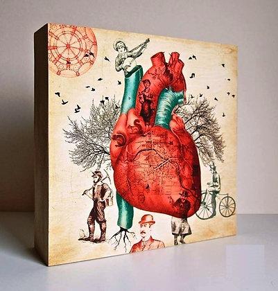 Anatomie du coeur - Illustration Vintage - Lightox