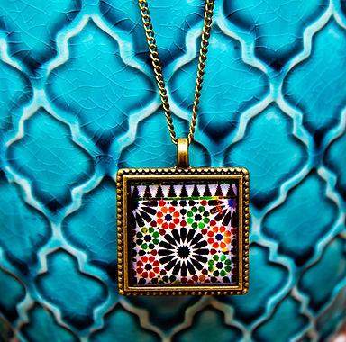 Pendentif Vintage - Mosaique  Alhambra F