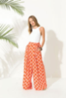 Pantalon palazzo orange - Marseille