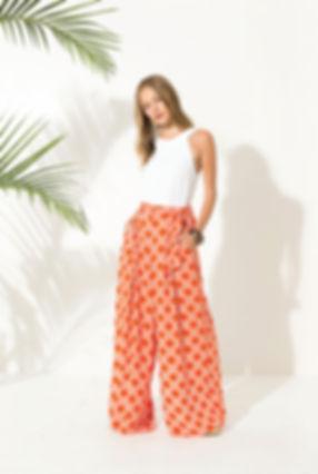 Pantalon motif retro