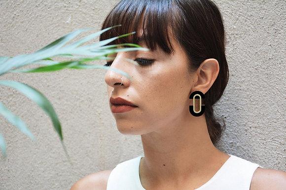 Boucles d'oreilles en bois Ovales - Création artisanale - Marseille