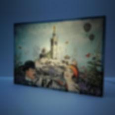 Lampe décorative vintage - Poster Marseille - Bonne Mère