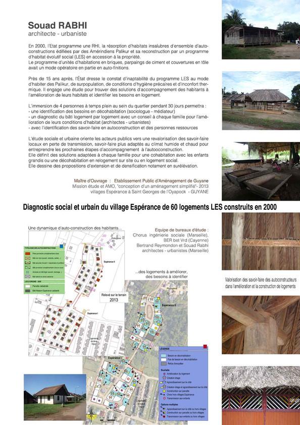 Projet d'auto-construction Guyane - Souad Rabhi - Urbaniste à Marseille