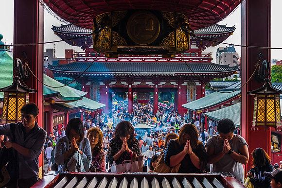 Photographie d'un temple de Tokyo - Japon - 2015