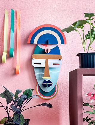 Masque africain coloré Brooklyn - Puzzle 3D murale Studio Roof | Marseille