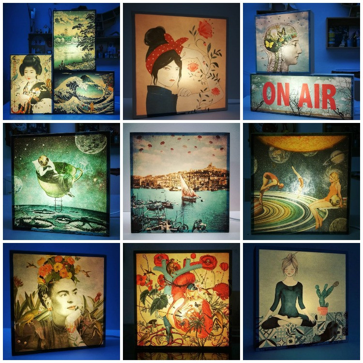 Cadeau déco lampes vintages décorées : une déco décalée et onirique - Marseille