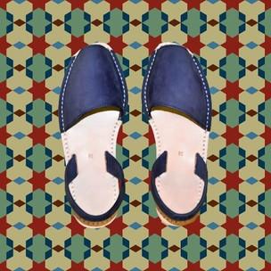 Avarcas Minorquines Bleu Nubuck