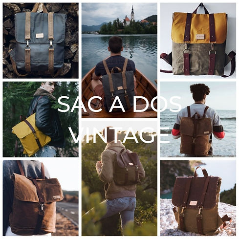 Sac a dos vintage homme