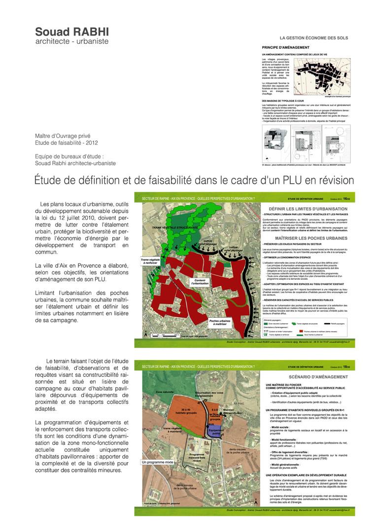 Etude d´urbanisme pour habitat groupé à Aix-en-Provence - Souad Rabhi urbaniste