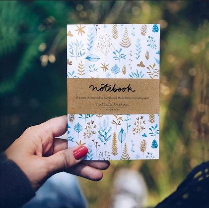 Carnet de note herbier - illustrations plantes de l'automne