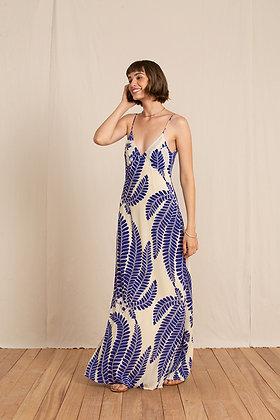 Robe bohème chic pour mariage ou soirée, robe bohème maxi longue au tissu très fluide - Marseille