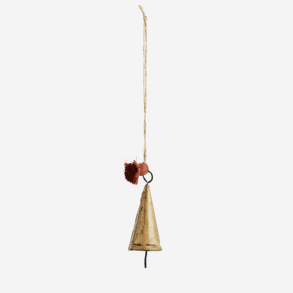 Clochette metal doré à suspendre - Décoration Noel Bohème