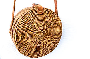 sac tendance  en rotin - round bag - sac