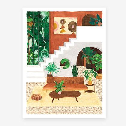 Affiche living room vintage - Affiche pour deco salon - Marseille