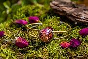 Bracelet fleurs - Rose eternelle - Bijoux Fleurs séchées - Marseille