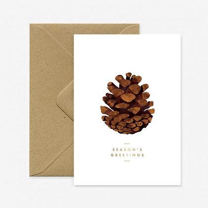 Carte de voeux Noel - Pomme de pin - Marseille