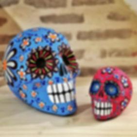 Tête de mort mexicaine - Crâne mexicain - Vente en ligne France