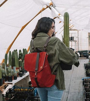 Sac à dos vintage rouge - Sac Durandal d'Hilvah - Marseille