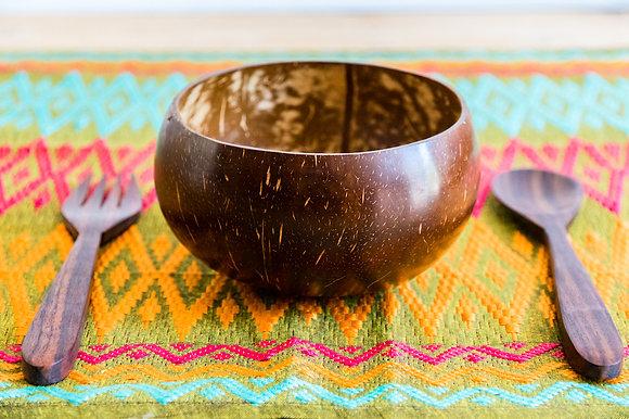 Bol en bois de coco naturelle pour la table - Marseille