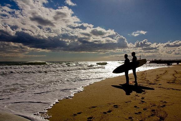 Photographie Surfeurs Barcelone - Trois Fenêtres