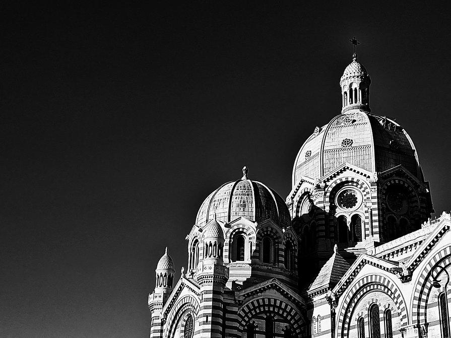 Cathedrale La Major - Noir et Blanc - Le Panier de Marseillle