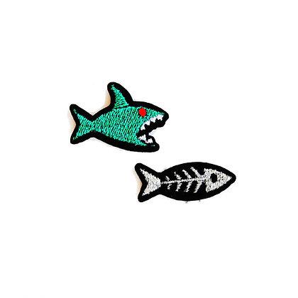 Ecusson Requin + Arête -  Macon & Lesquoy - Cadeau original - Marseille