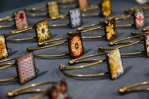 Bijoux Marseille - Bracelet - Carreaux Ciment Art Déco - Cadeau original pour femme